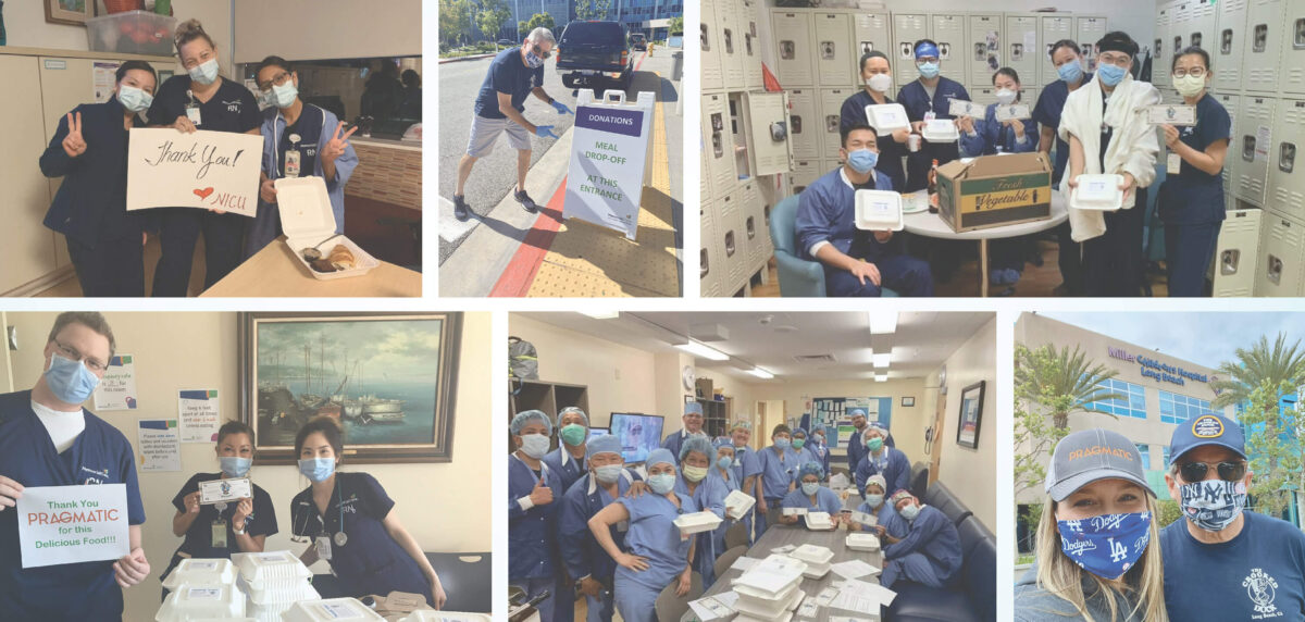 Healthcare workers collage